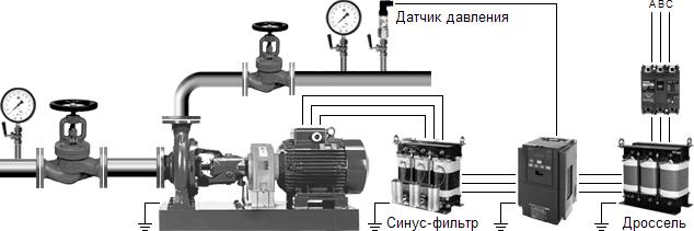 Система автоматического регулирования давления воды на базе частотного привода
